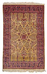 A Silk Kashan rug Central Persia, size approximately 4ft. x 6ft.