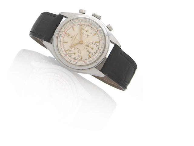 Rolex. An unsusal stainless steel chronograph wristwatch, ref.6034