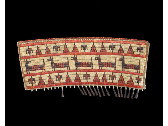 A Sioux quilled cradle decoration