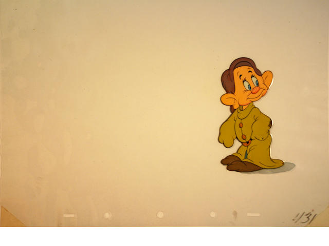 "A Walt Disney celluloid from ""Snow White and the Seven Dwarfs"""