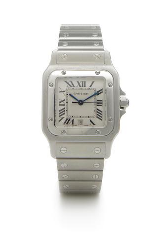 Cartier. A stainless steel quartz calendar bracelet watchSantos, Ref.1564, circa 2002