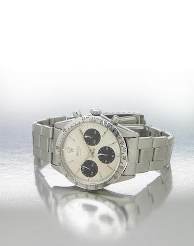 Rolex. A fine and rare stainless steel chronograph bracelet watchCosmograph Daytona, Ref.6262/6239, made circa 1970