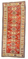 A Shirvan runner Caucasus, size approximately 4ft. 2in. x 9ft. 8in.