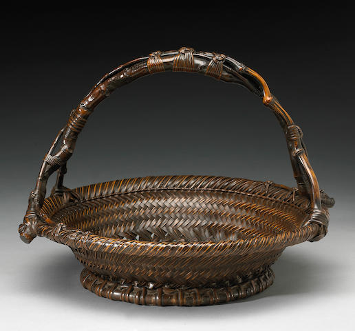A display basket (morikago) Taisho Period, Signed Chikuunsai (1872-1950)