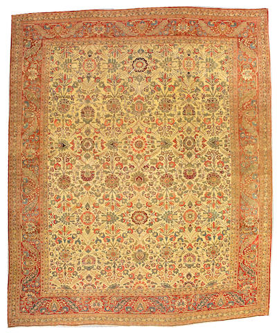 A Tabriz carpet Northwest Persia, size approximately 11ft. 4in. x 13ft. 8in.