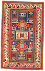 A Karachov Kazak rug Caucasus, size approximately 3ft. 11in. x 6ft. 9in.