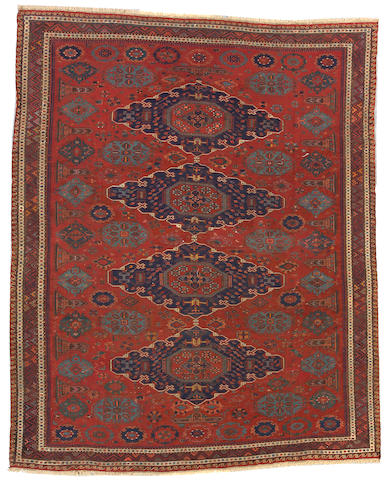 A Soumak carpet Caucasus, size approximately 8ft. 11in. x 11ft. 4in.