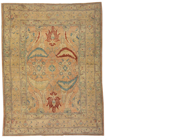 An Oushak rug West Anatolia, size approximately 8ft. 11in. x 10ft. 8in.