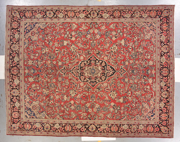 A Mahal carpet Central Persia, size approximately 12ft. 4in. x 9ft. 4in.