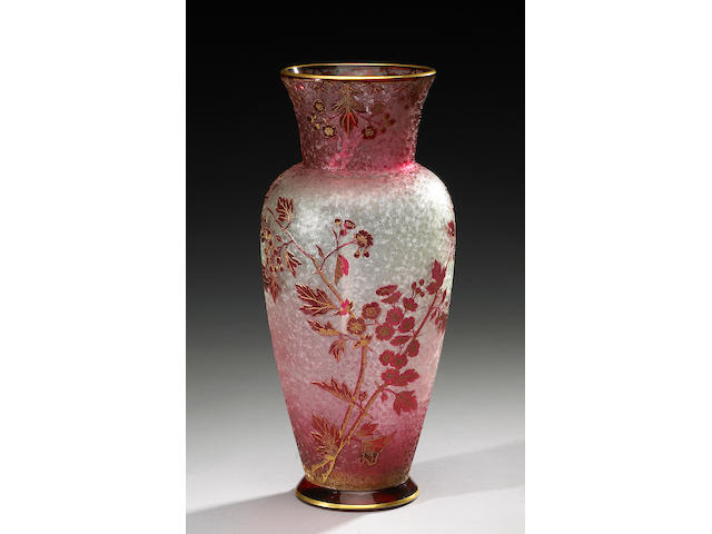 A Baccarat cameo glass vase