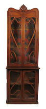 An Art Nouveau glazed display cabinet