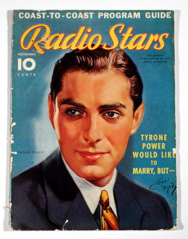 A Tyrone Power group of personally-owned movie and theatre programs, 1930s-1950s