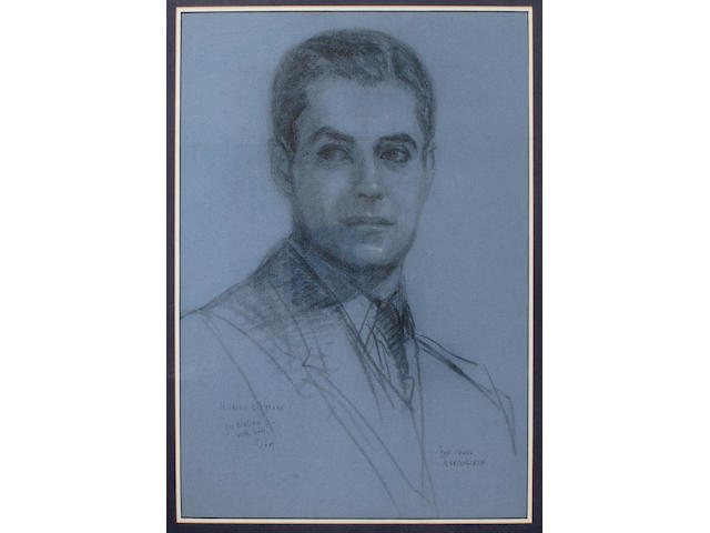 A Tyrone Power drawing by his sister, Anne Power Hardenbergh, 1940s