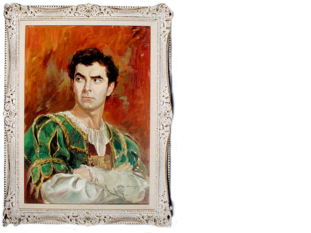 "A Tyrone Power painting from ""Prince of Foxes"""