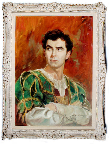 """A Tyrone Power painting from """"Prince of Foxes"""""""