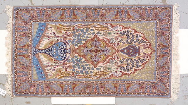 An Isphahan rug South Central Persia, size approximately 6ft. 5in. x 3ft. 7in.
