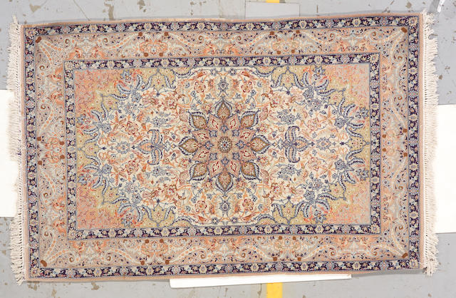 An Isphahan rug   South Central Persia, size approximately 5ft. 7in. x 3ft. 7in.