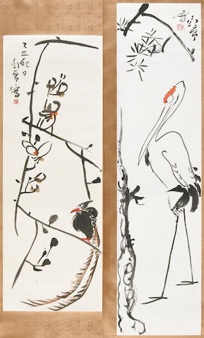 Ding Yanyong (1902-1978)  Two paintings