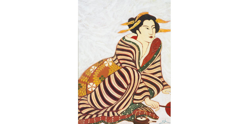 Sharon Kennedy (American, born 1949) Lady in Kimono 48 X 36 in