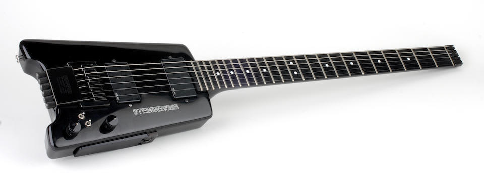 A Jerry Garcia personally owned and signed Steinberger headless electric guitar, circa 1980s