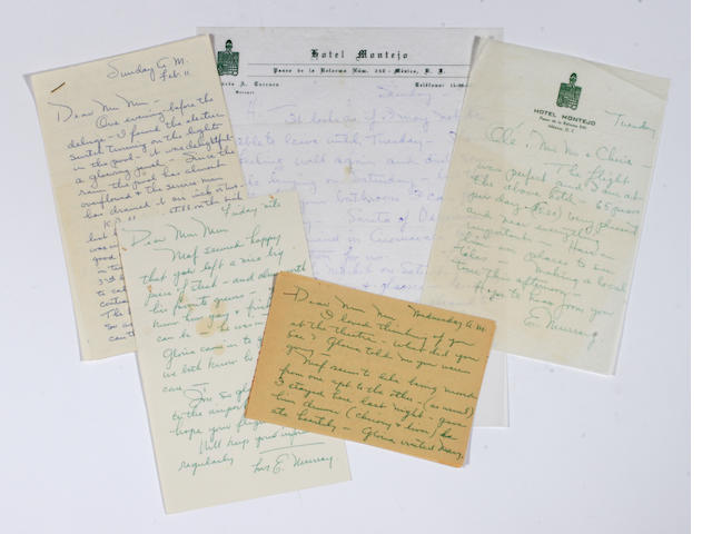 A Marilyn Monroe-received group of letters from Eunice Murray, 1962
