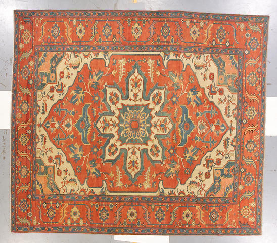 A contemporary Serapi carpet Northwest Persia, size approximately 10ft. 3in. x 11ft. 6in.