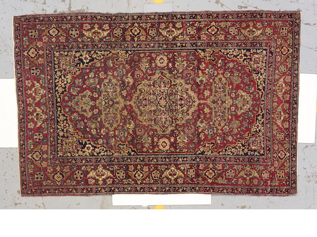 An Isfahan rug Central Persia, size approximately 4ft. 8in. x 7ft. 2in.