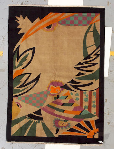 An Art Deco Chinese rug China, size approximately 4ft. 11in. x 6ft. 11in.