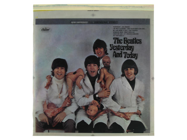 A Beatles 'Butcher Cover' set of 4-color separations from the stereo version of the album, 1966