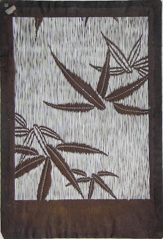 A group of four paper stencils (katagami)