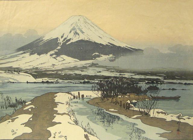 Hiroshi Yoshida (1876-1950) One large modern print