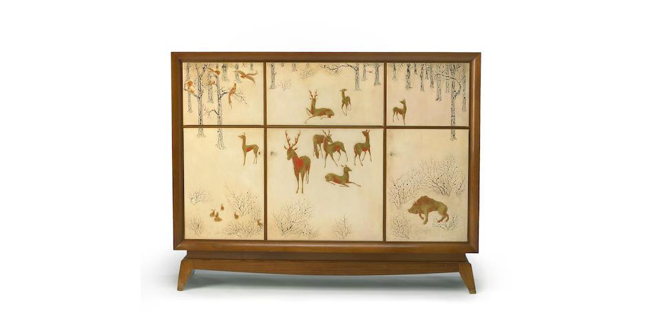 A fine Art Deco lacquered cabinet