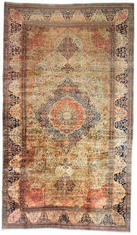 A Mohtashem Kashan Carpet Central Persia, size approximately 13ft. 9in. x 23ft.
