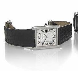 Cartier. A stainless steel oversize rectangular quartz wristwatch Grande Tank, Ref.2715, circa 2006