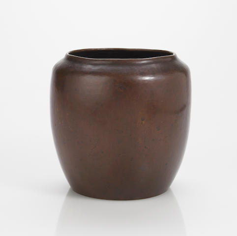 A Dirk Van Erp hammered copper vase