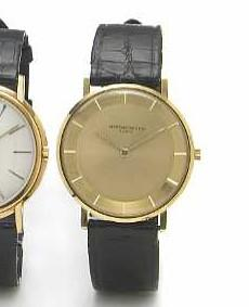 Vacheron & Constantin. An 18k gold slim round cased wristwatchRef.6100, Case No.346670, Movement No.524698, 1960s