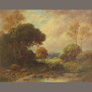 A.M. Podchernikoff, Landscape, oil