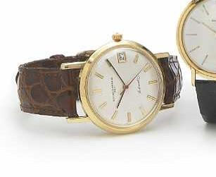 Vacheron & Constantin. An 18k gold self-winding calendar wristwatch Ref.6594, Case no.402117, Movement No.554748, made circa 1963