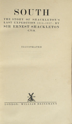 SHACKLETON, ERNEST HENRY, SIR.