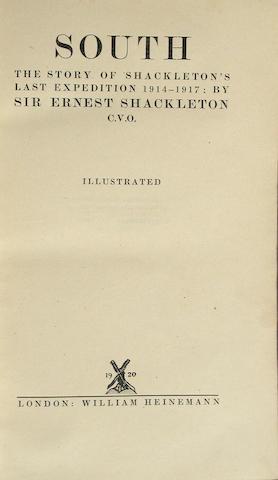 SHACKLETON, ERNEST HENRY, SIR.
