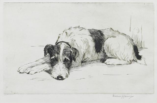 Marion Rodger Hamilton Harvey (British, 1886-1971) Waiting 6 x 10 in. (15 x 25.5 cm.)