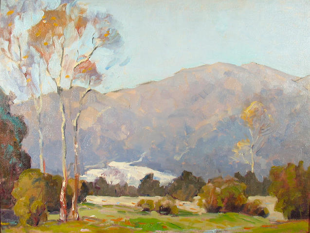 Attributed to Orrin A. White (American, 1883-1969) California Foothills 16 x 20in