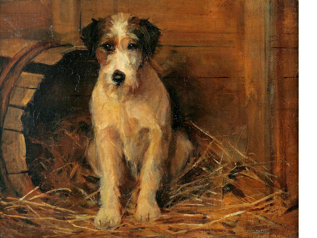 Samuel Fulton (British, 1855-1941) Portrait of a dog