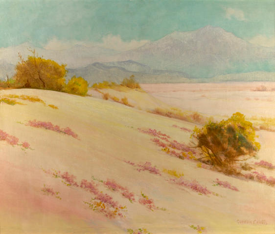 Gordon Coutts (Scottish/American, 1868-1937) Desert in Bloom 25 x 30in