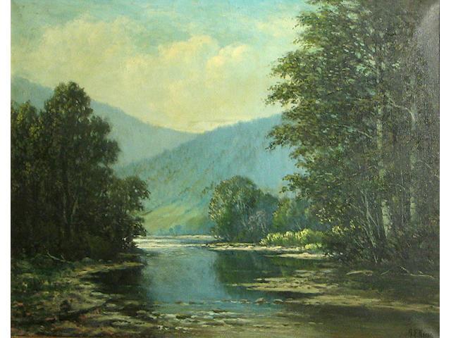 Albert Francis King (American, 1854-1945) Allegheny Mountain Stream near Altoona Pennsylvania 22 x 28in