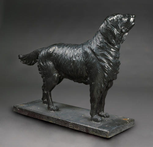 An American cast iron paint decorated Retriever