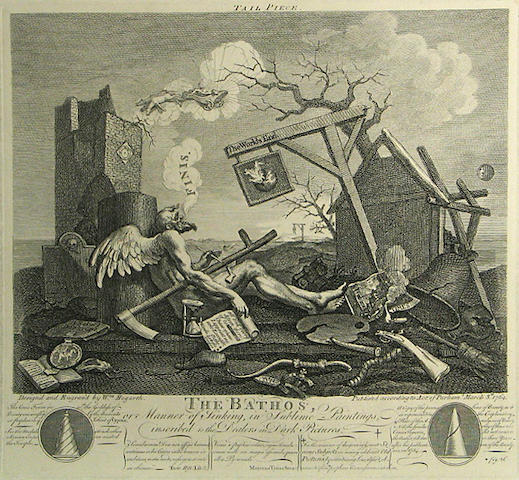 William Hogarth (British, 1697-1764); and Others 17th and 18th century Engraving and Etchings; (8)