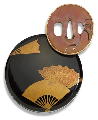 A Yokoya school copper tsuba, attributed to Yokoya Somin Edo period (18th century)