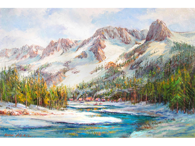 Ben Abril (American, 1923-1995) Lake Mary at Crystal Crag, Mammoth Lakes 24 1/4 x 36in