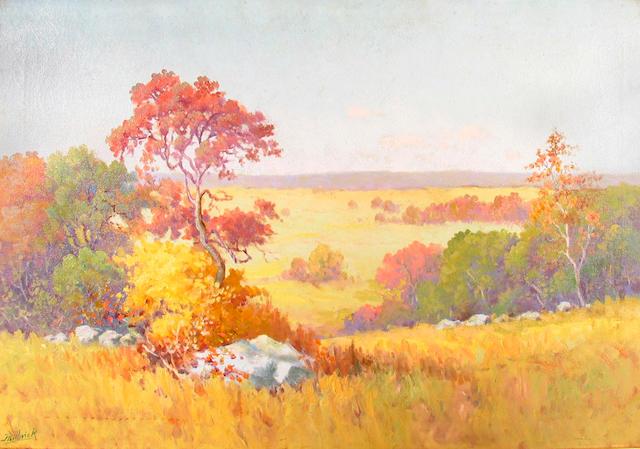 Philbrick (American, 20th century)    Homage to Maurice Braun 20 x 30 1/4in